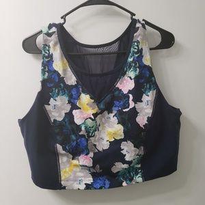 Floral & Mesh sports bra